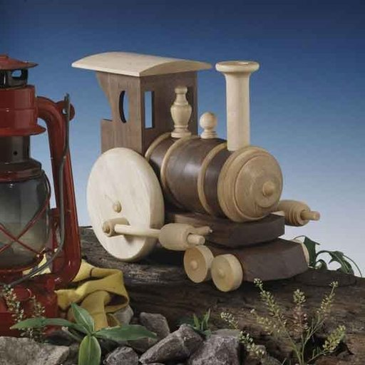 View a Larger Image of Woodworking Project Paper Plan to Build Chubby Choo-Choo Train