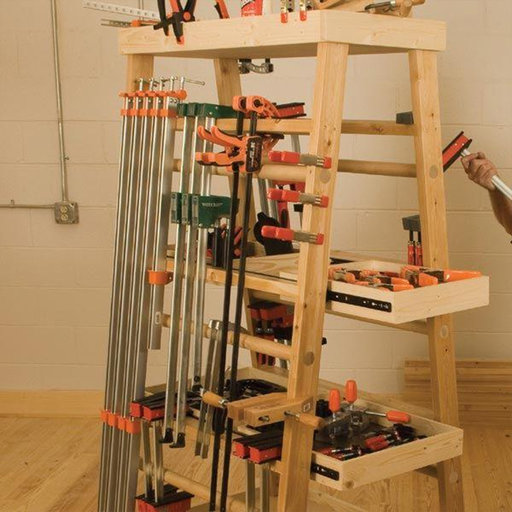 View a Larger Image of Woodworking Project Paper Plan to Build Clamp Rack