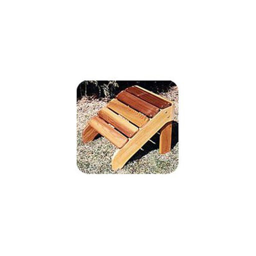 View a Larger Image of Woodworking Project Paper Plan to Build Classic Adirondack Footrest