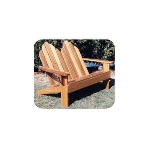 View a Larger Image of Woodworking Project Paper Plan to Build Classic Adirondack Loveseat
