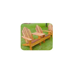 Woodworking Project Paper Plan to Build Classic Adirondack Tete-a-Tete