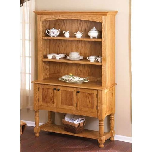 View a Larger Image of Woodworking Project Paper Plan to Build Classic Country Oak Hutch