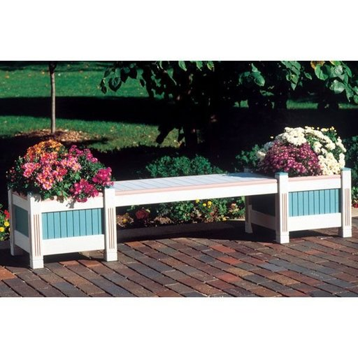 View a Larger Image of Woodworking Project Paper Plan to Build Classic Planter & Bench