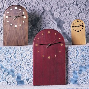 Woodworking Project Paper Plan to Build Clock Trio, Plan No. 807