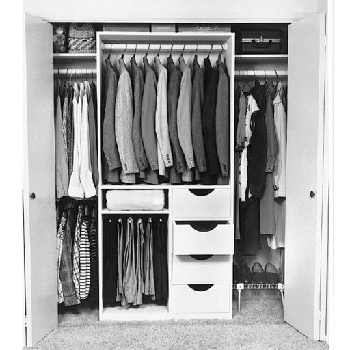 View a Larger Image of Woodworking Project Paper Plan to Build Closet Organizer