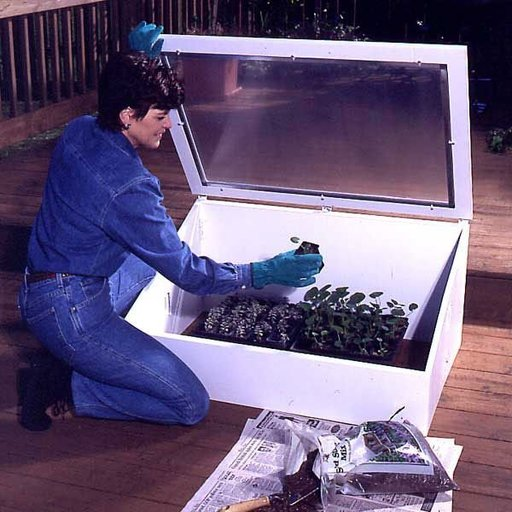 View a Larger Image of Woodworking Project Paper Plan to Build Cold Frame