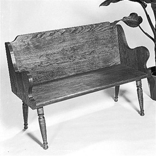 View a Larger Image of Woodworking Project Paper Plan to Build Colonial Bench, Plan No. 302