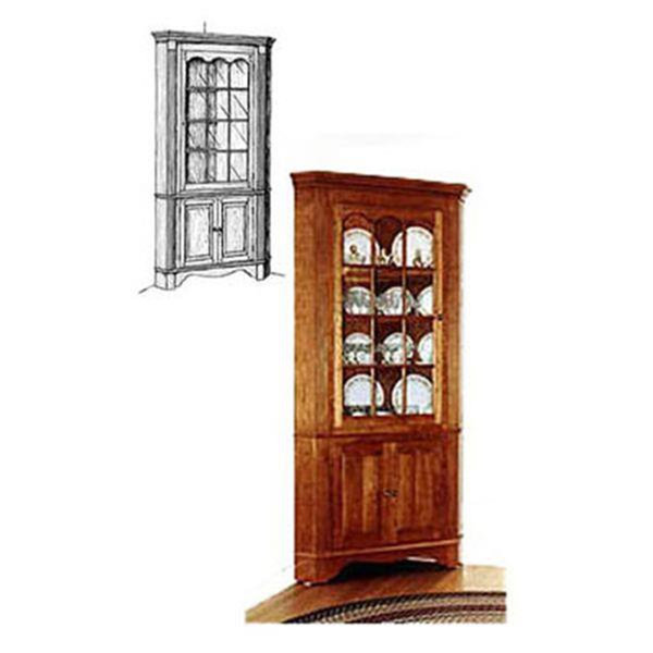 woodworking project paper plan to build colonial corner cabinet. Black Bedroom Furniture Sets. Home Design Ideas