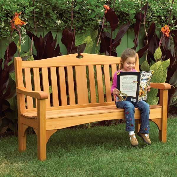 Woodworking Project Paper Plan to Build Comfy Classic Garden Bench – Garden Bench Plans Pdf