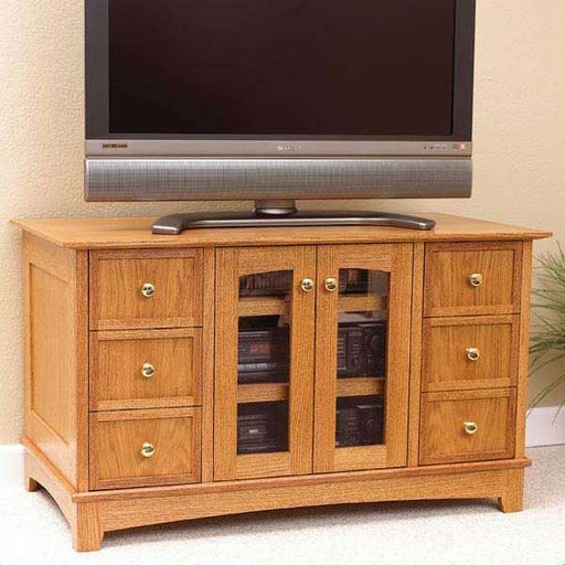 View a Larger Image of Woodworking Project Paper Plan to Build Compact Entertainment Center