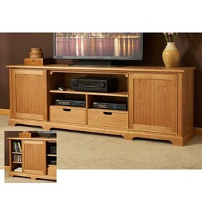 Woodworking Project Paper Plan to Build Component-ready Flat-screen Media Center
