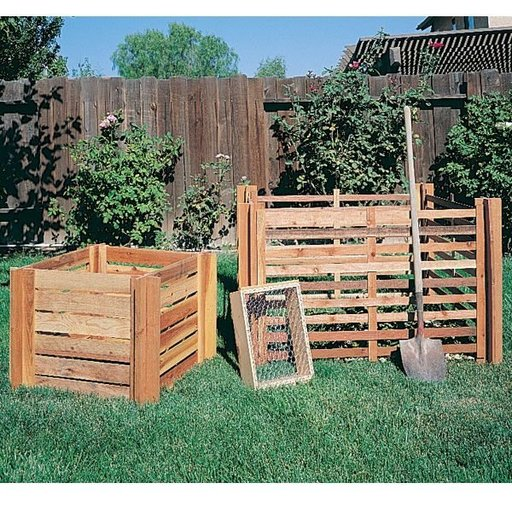 View a Larger Image of Woodworking Project Paper Plan to Build Composting Bins, Plan No. 841