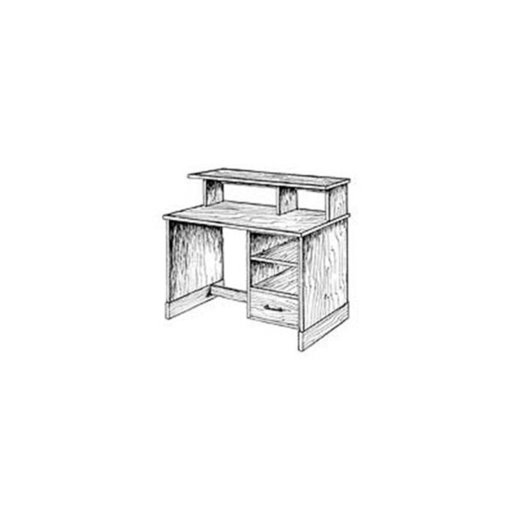 View a Larger Image of Woodworking Project Paper Plan to Build Computer / Office Desk