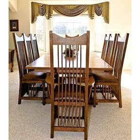 Woodworking Project Paper Plan to Build Mission Style Dining Table ...