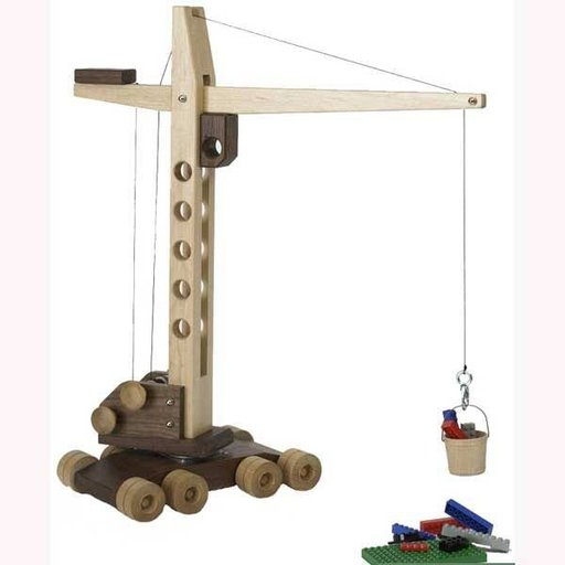 View a Larger Image of Woodworking Project Paper Plan to Build Contractor Grade Mobile Crane Toy
