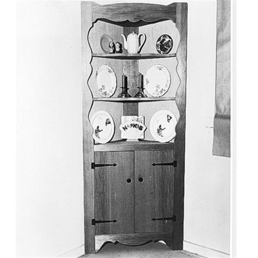 View a Larger Image of Woodworking Project Paper Plan to Build Corner Cabinet, Plan No. 109