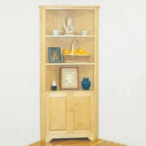 Woodworking Project Paper Plan to Build Corner Cabinet