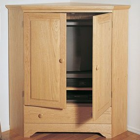 Woodworking Project Paper Plan to Build Corner Tv Cabinet, Plan No. 864