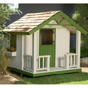 Woodworking Project Paper Plan to Build Cottage Playhouse Plan