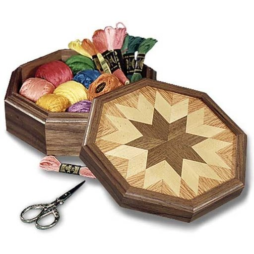 View a Larger Image of Woodworking Project Paper Plan to Build Country All-Star Keepsake Box