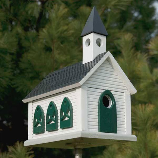 View a Larger Image of Woodworking Project Paper Plan to Build Country Church Birdhouse