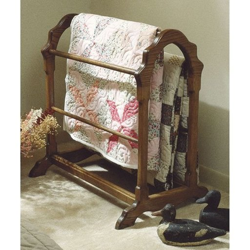 View a Larger Image of Woodworking Project Paper Plan to Build Country Classic Quilt Rack (Large Format)