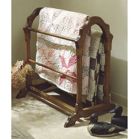 Woodworking Project Paper Plan to Build Country Classic Quilt Rack (Large Format)