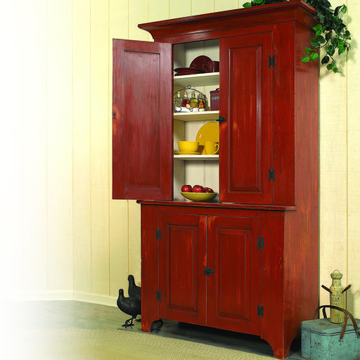View a Larger Image of Woodworking Project Paper Plan to Build Country Classic Stepback Cupboard