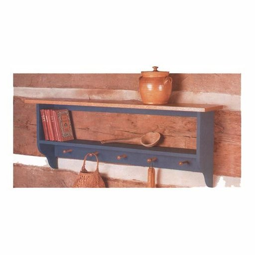 View a Larger Image of Woodworking Project Paper Plan to Build Country Collection Wall Shelf