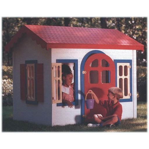 View a Larger Image of Woodworking Project Paper Plan to Build Country Cottage Playhouse
