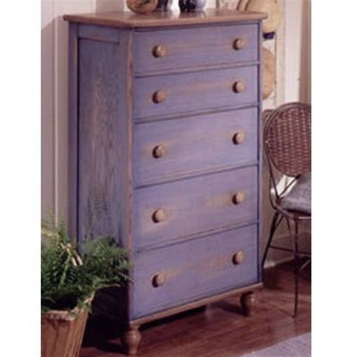 View a Larger Image of Woodworking Project Paper Plan to Build Country-Fresh 5-Drawer Dresser
