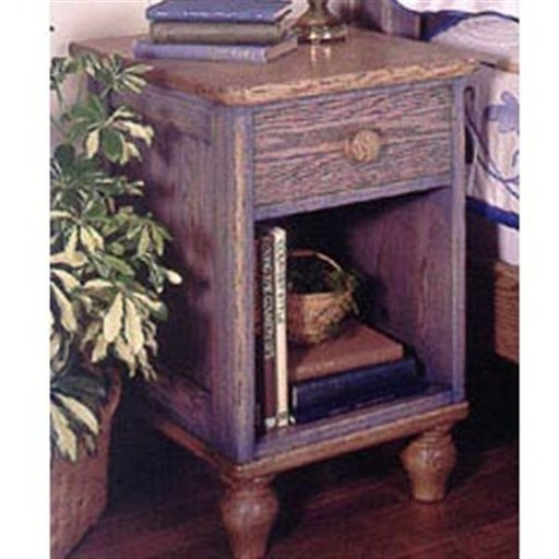 View a Larger Image of Woodworking Project Paper Plan to Build Country-Fresh Nightstand