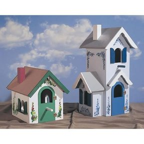 woodworking project paper plan to build country victorian birdhouse plan no - Lighthouse Playhouse Building Plans