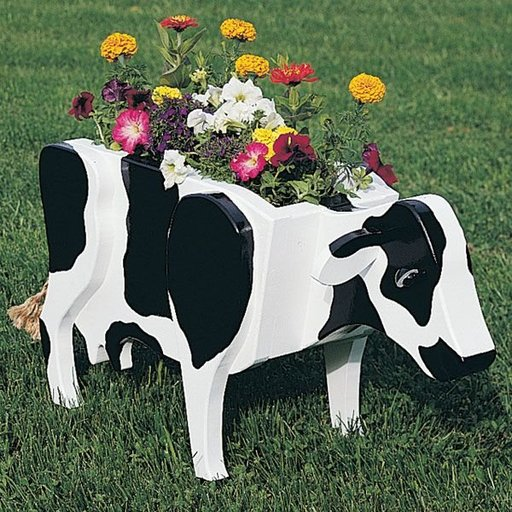 View a Larger Image of Woodworking Project Paper Plan to Build Cow Planter, Plan No. 825