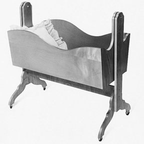Woodworking Project Paper Plan to Build Cradle