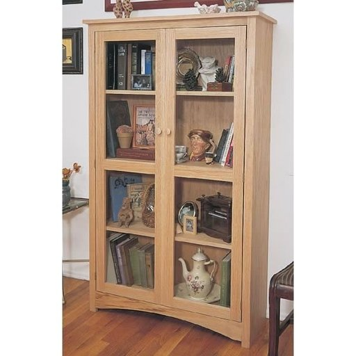 View a Larger Image of Woodworking Project Paper Plan to Build Craftsman Bookcase, Plan No. 863