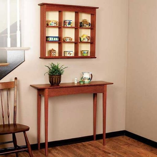 View a Larger Image of Woodworking Project Paper Plan to Build Curio Shelf and Hall Table