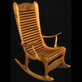 Woodworking Project Paper Plan to Build Curley Maple Rocking Chair, AFD120