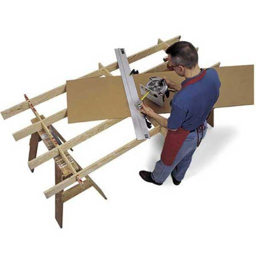 View a Larger Image of Woodworking Project Paper Plan to Build Cutting Platform and Sheet Goods Mover