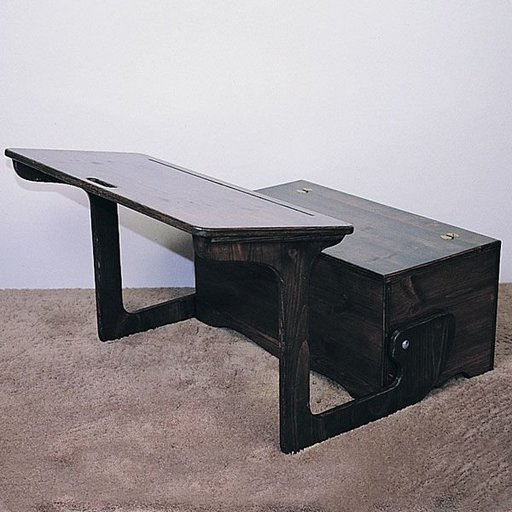 View a Larger Image of Woodworking Project Paper Plan to Build Desk & Storage, Plan No. 763