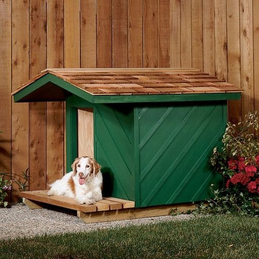 View a Larger Image of Woodworking Project Paper Plan to Build Dog House