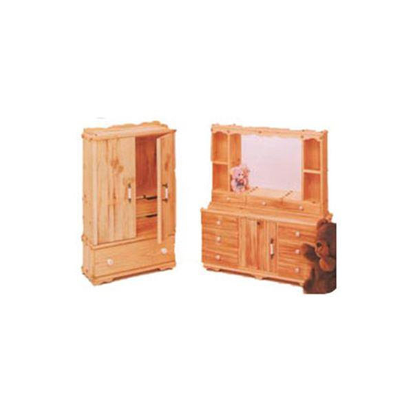 view a larger image of woodworking project paper plan to build doll armoire and dresser