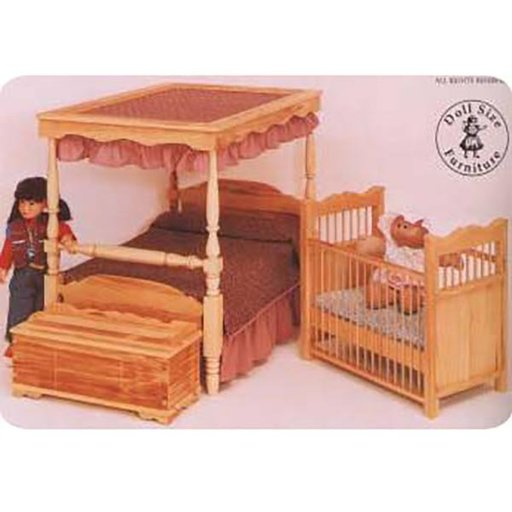 View a Larger Image of Woodworking Project Paper Plan to Build Doll Crib