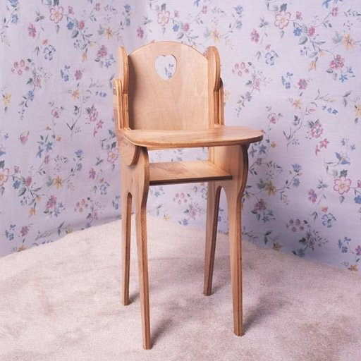 View a Larger Image of Woodworking Project Paper Plan to Build Doll High Chair, Plan No. 770