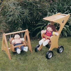 Woodworking Project Paper Plan to Build Doll Stroller & Swing, Plan No. 784