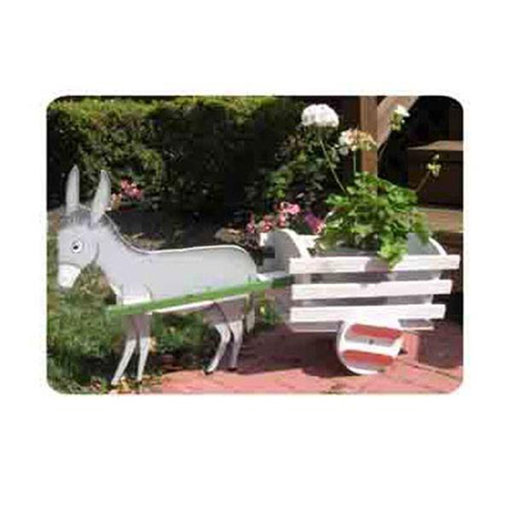 View a Larger Image of Woodworking Project Paper Plan to Build Donkey Cart Planter