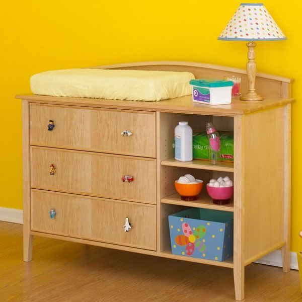 View A Larger Image Of Woodworking Project Paper Plan To Build Double Duty Changing  Table