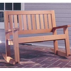 Woodworking Project Paper Plan to Build Double Porch Rocker, Plan No. 929