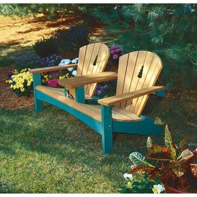 Woodworking Project Paper Plan to Build Double Settee