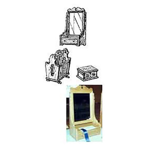 View a Larger Image of Woodworking Project Paper Plan to Build Dresser Mirror, Jewelry Box, Magazine Rack